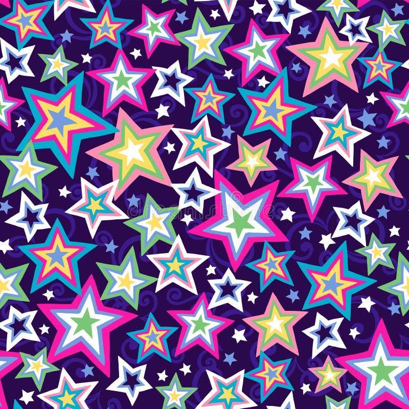 模式无缝的星形 库存例证