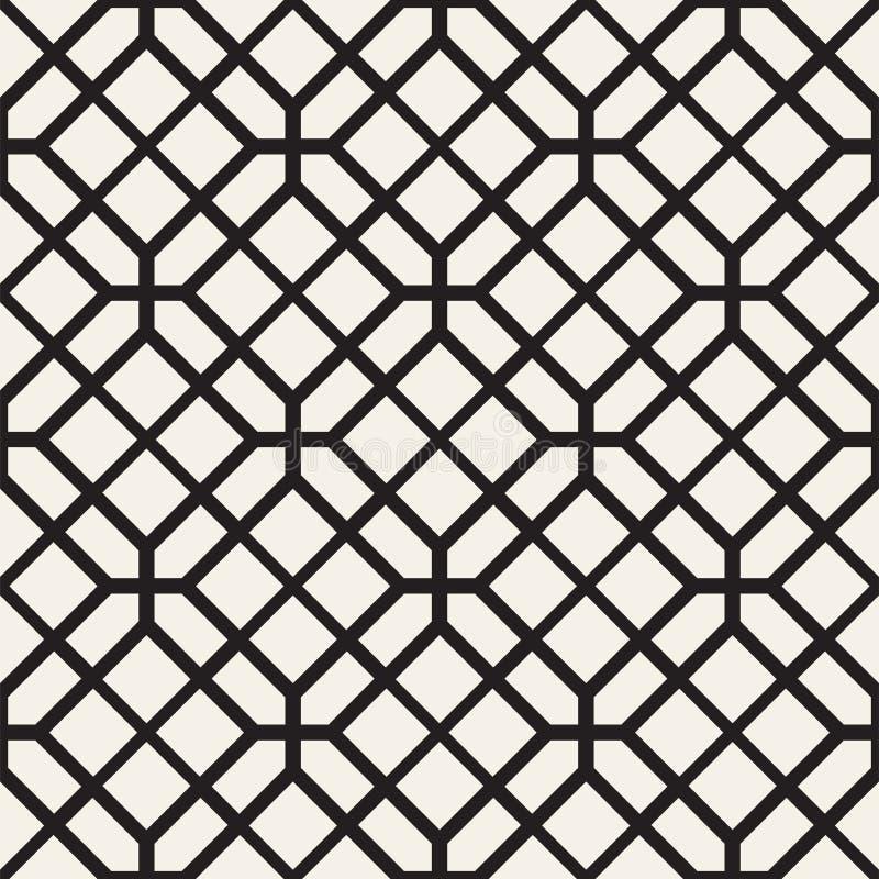 模式无缝的正方形 传染媒介时髦的几何线性结构 库存例证