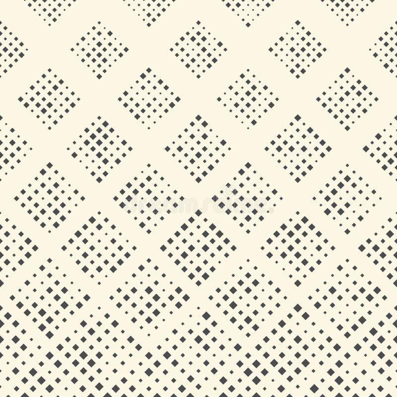 模式无缝的正方形 抽象黑白几何Orna 库存例证