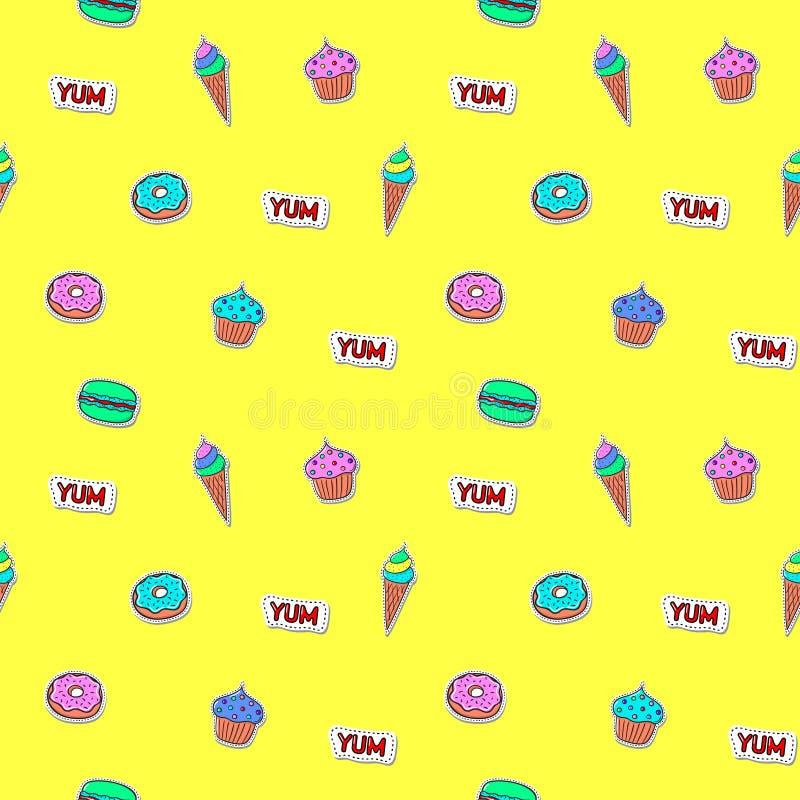 模式无缝的甜点 免版税图库摄影