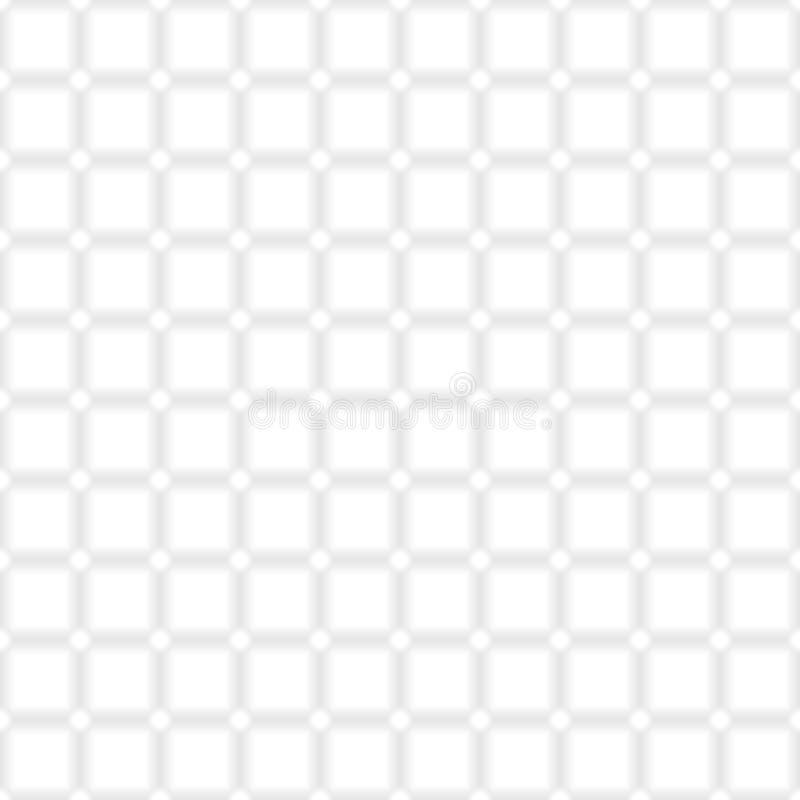 模式无缝的白色 库存例证
