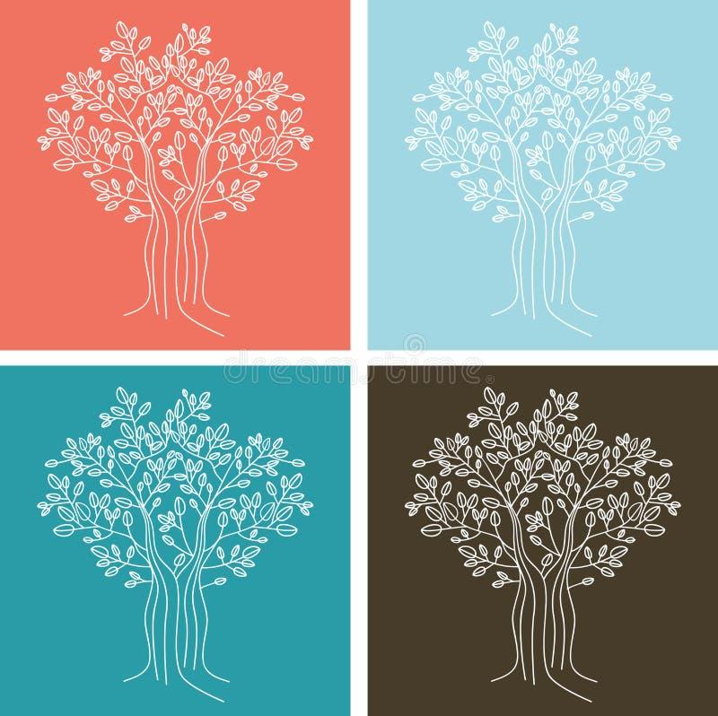 模式无缝的结构树 皇族释放例证