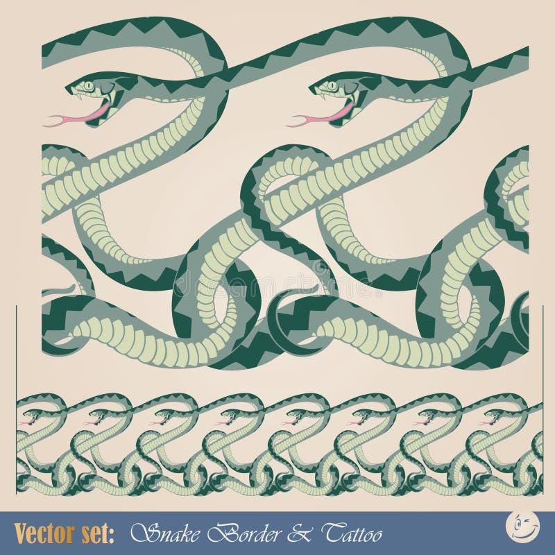 模式无缝的蛇 库存例证