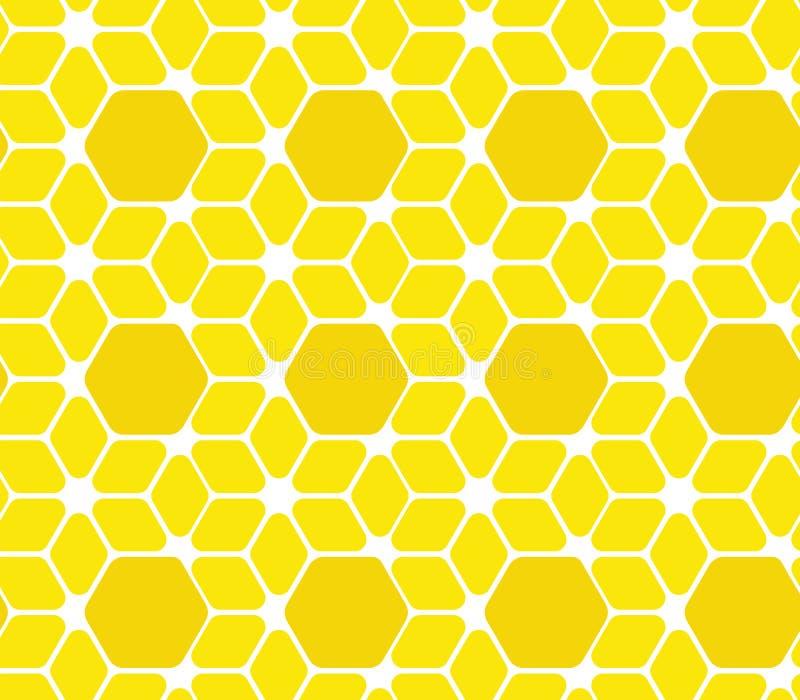 模式无缝的表面 也corel凹道例证向量 几何蜂房背景 抽象蜂窝 皇族释放例证