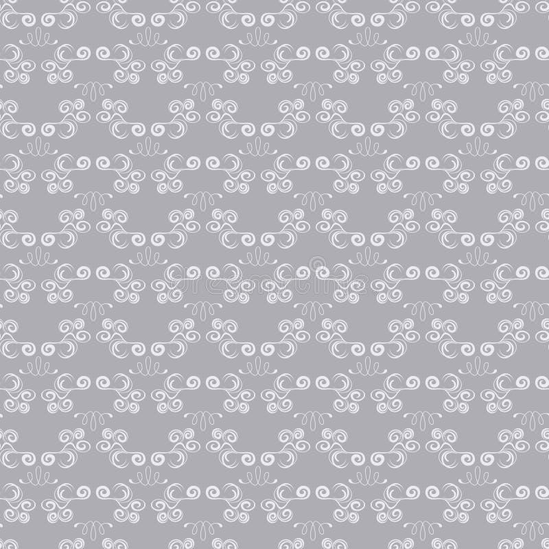 模式无缝的银 向量例证