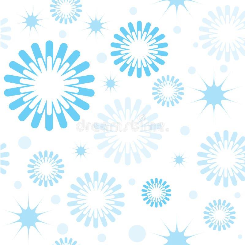 模式无缝的雪花星形 向量例证