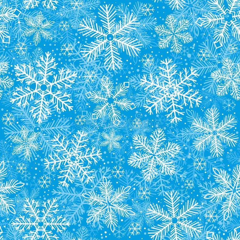 模式无缝的雪花 库存例证