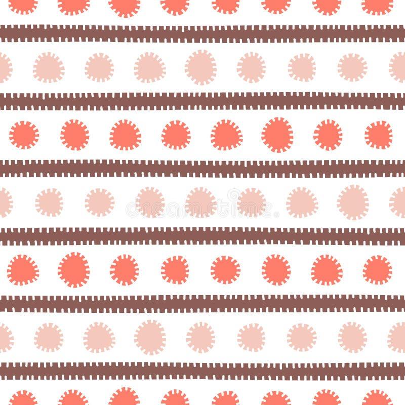 模式无缝简单镶边 纺织品的逗人喜爱的印刷品 向量 库存例证