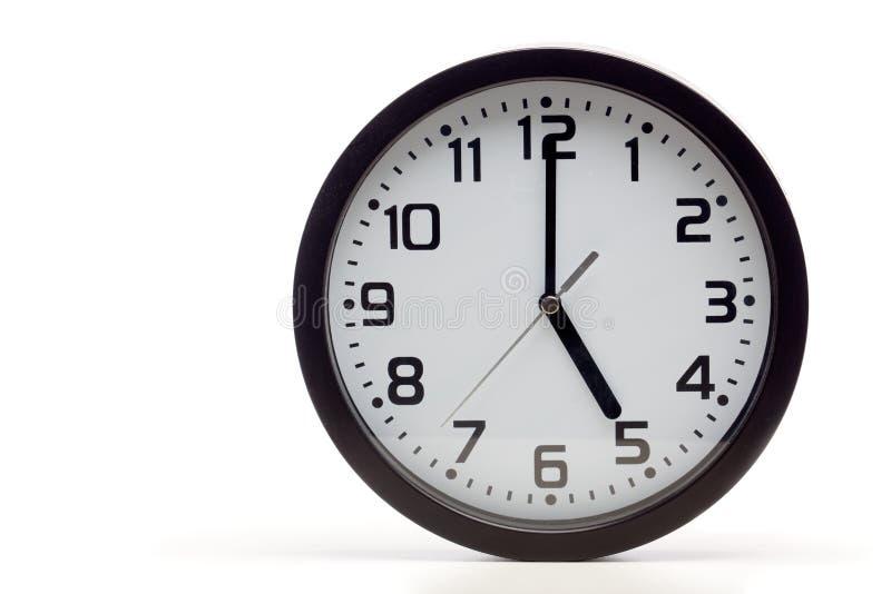 黑模式时钟 库存照片