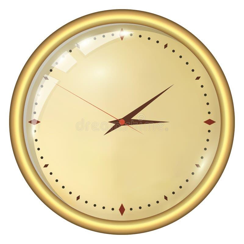 模式时钟 库存例证