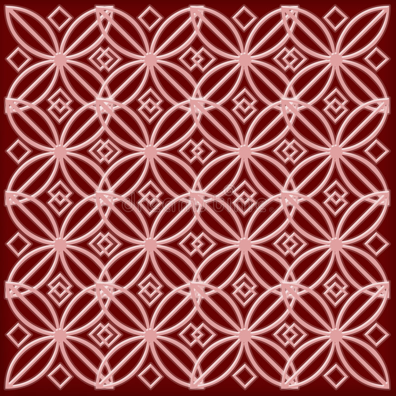 模式桃红色红色 库存照片