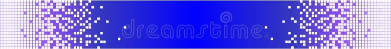 模式横幅蓝色数字式满足技术 皇族释放例证