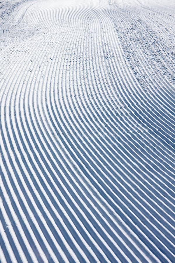 模式滑雪倾斜雪 库存照片