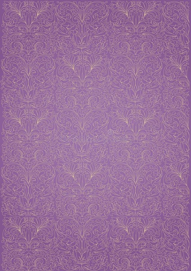 模式紫色重复 皇族释放例证