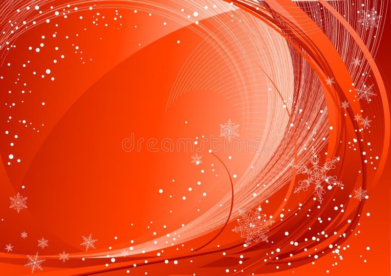模式红色冬天 向量例证