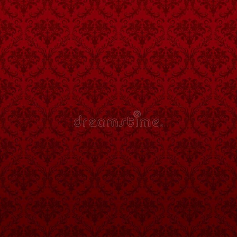 模式红色无缝的墙纸 皇族释放例证