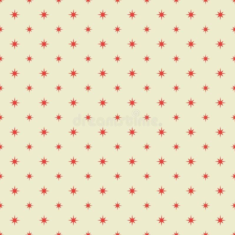 模式红色无缝的星形 向量例证