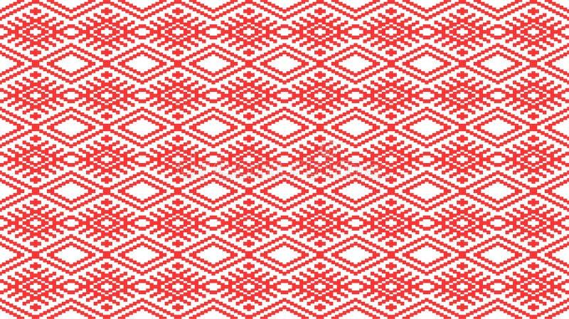 模式罗马尼亚无缝传统 库存例证