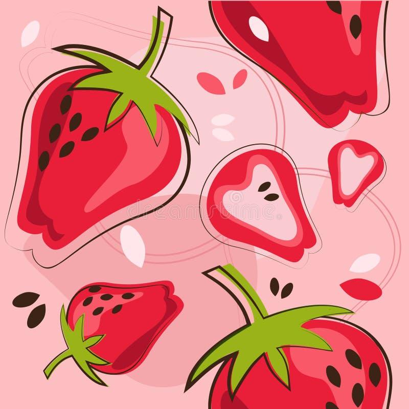 模式草莓 皇族释放例证