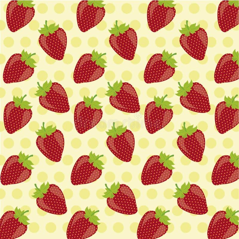 模式草莓 向量例证
