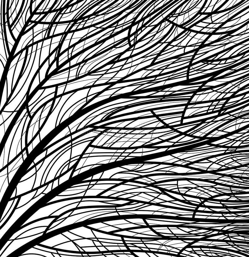 模式风格化结构树 皇族释放例证