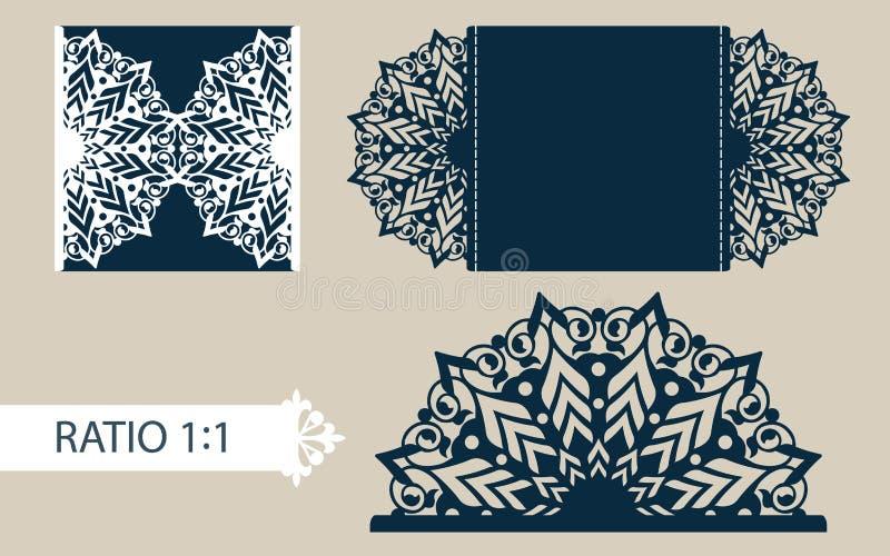 模板与透雕细工样式的贺卡 皇族释放例证