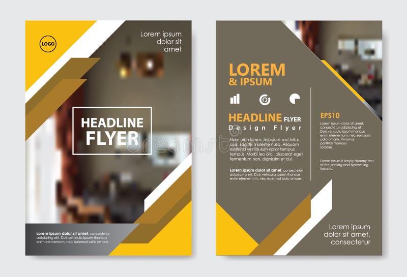 模板对角线抽象设计杂志小册子飞行物小册子盖子布局 向量例证
