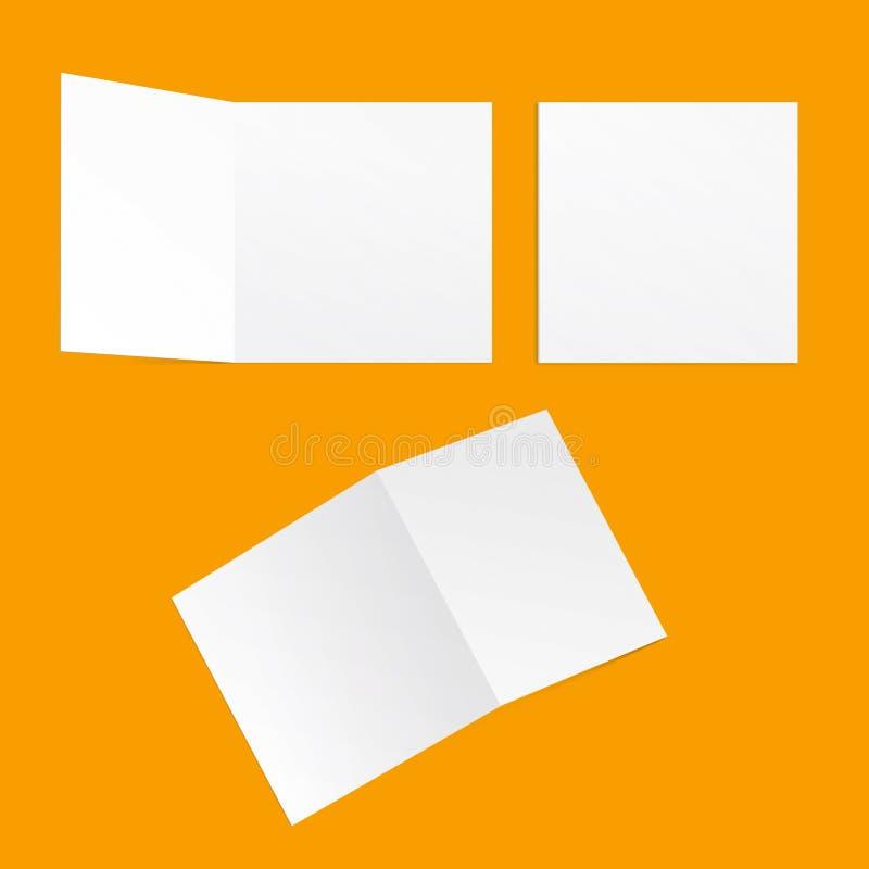 模板方形的明信片 库存照片