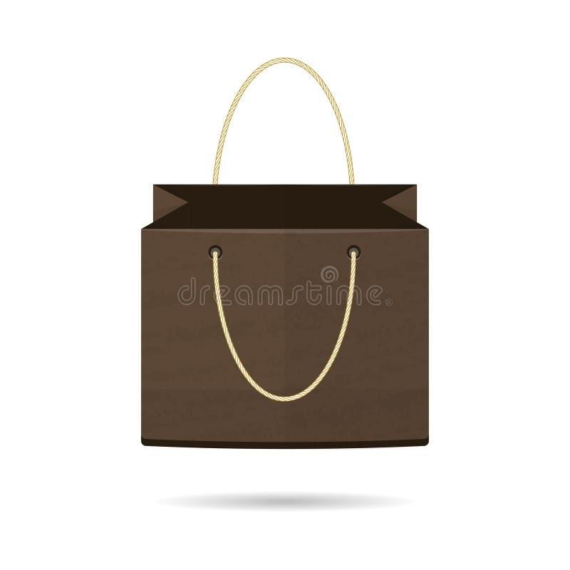 模板是购物的一个独立包裹在白色背景 向量 向量例证