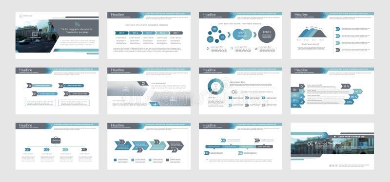 介绍模板的Infographic元素 皇族释放例证