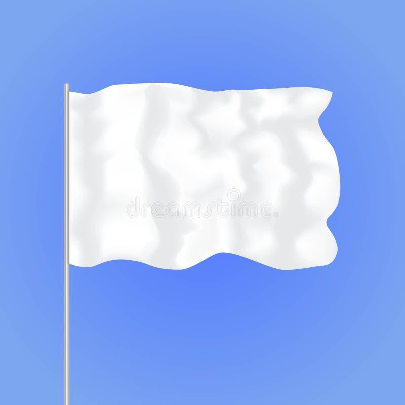 模板空白的白旗 向量 库存例证