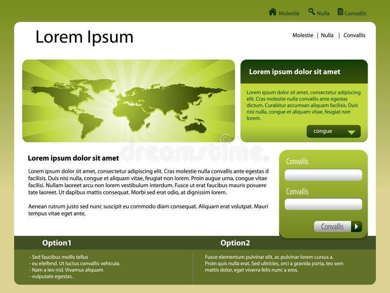 模板网站世界 向量例证
