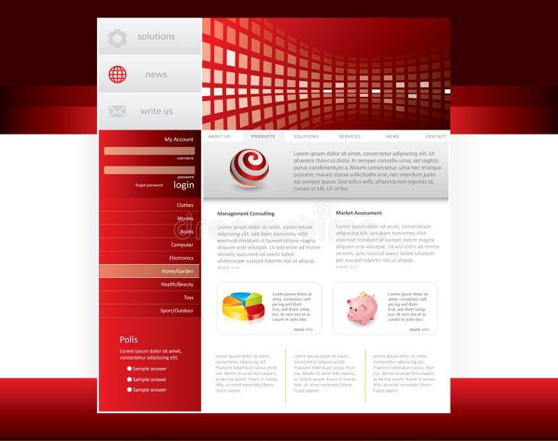 模板网站 向量例证