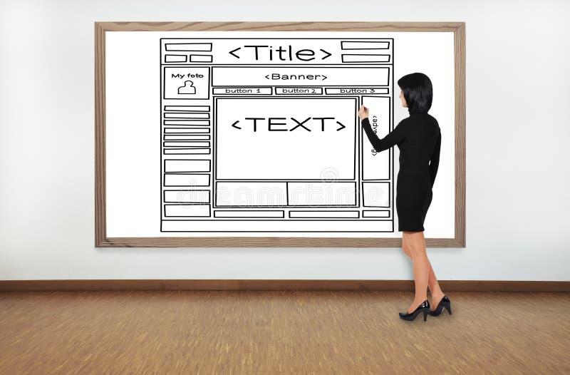 模板网页 免版税库存照片