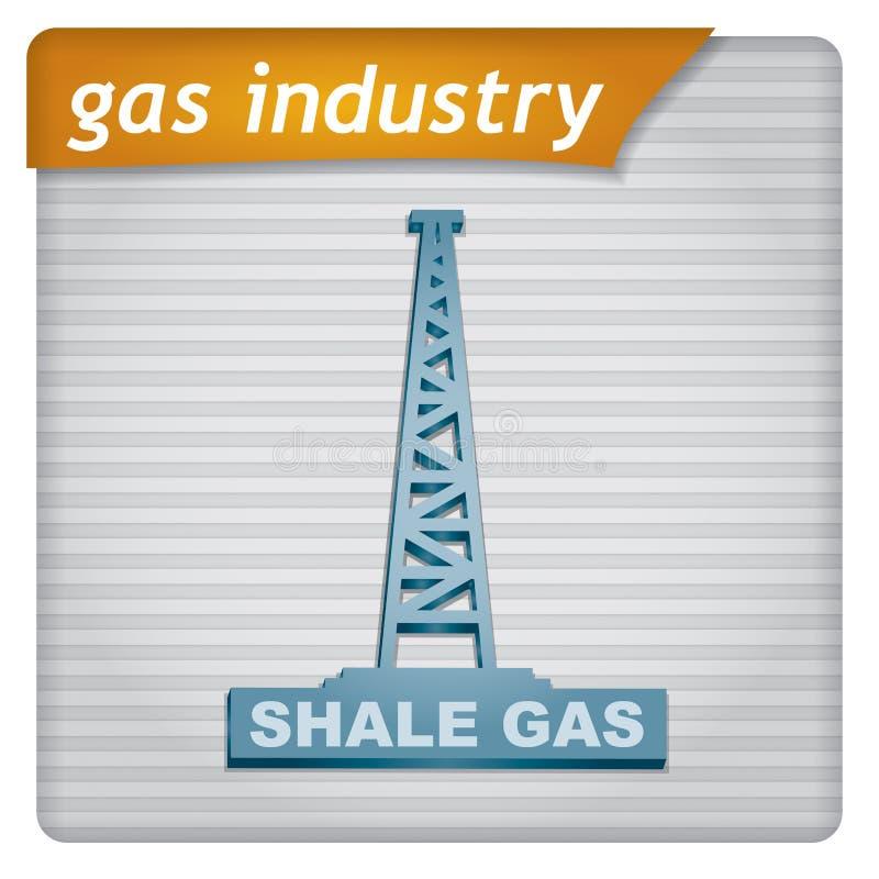 介绍模板-天然气产业 向量例证