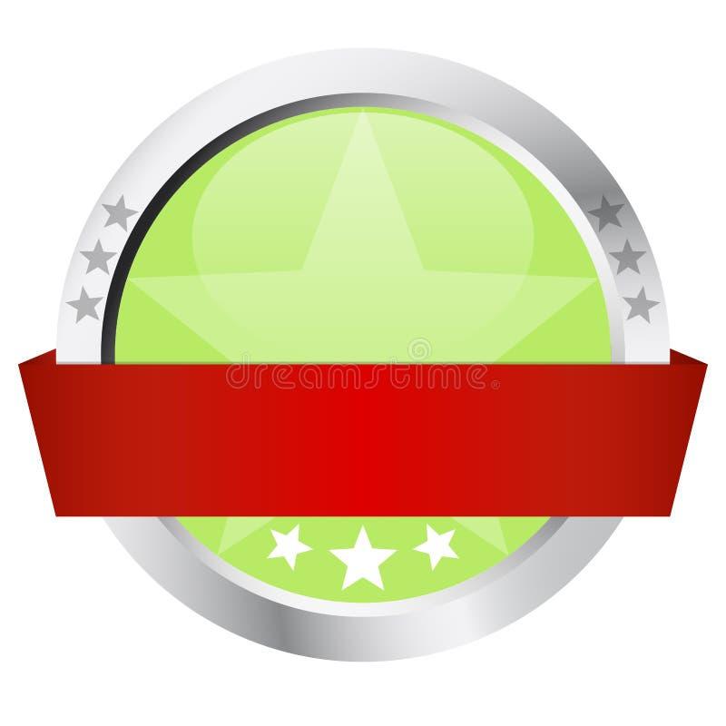 模板-有横幅的按钮 皇族释放例证