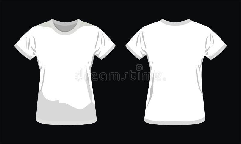 模板T恤杉设计 库存例证
