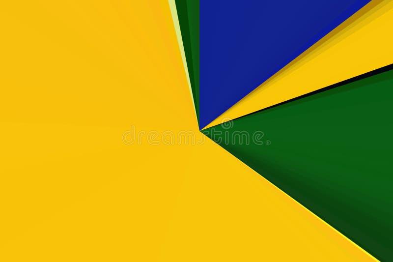 模糊巴西旗子射线的背景 面包渣 库存例证