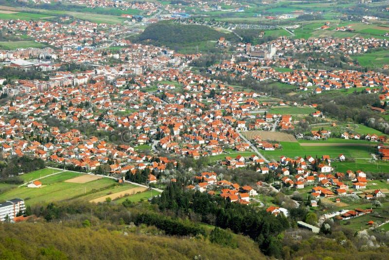 横向农村塞尔维亚 库存图片