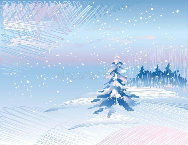 横向冬天 向量例证
