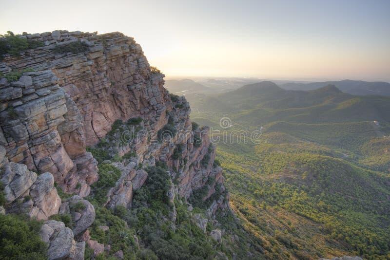 横向地中海多山 库存图片