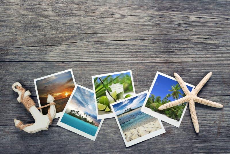 横向地中海照片明信片旅行 图库摄影
