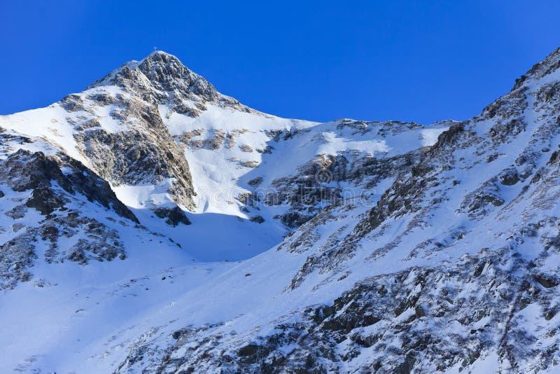 横向山冬天 图库摄影