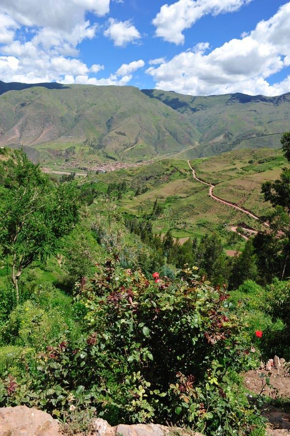 横向山秘鲁人 免版税库存照片