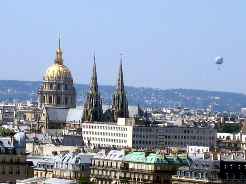 横向巴黎 免版税库存照片