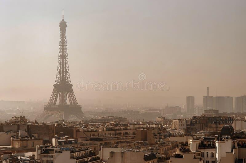 横向巴黎 免版税库存图片