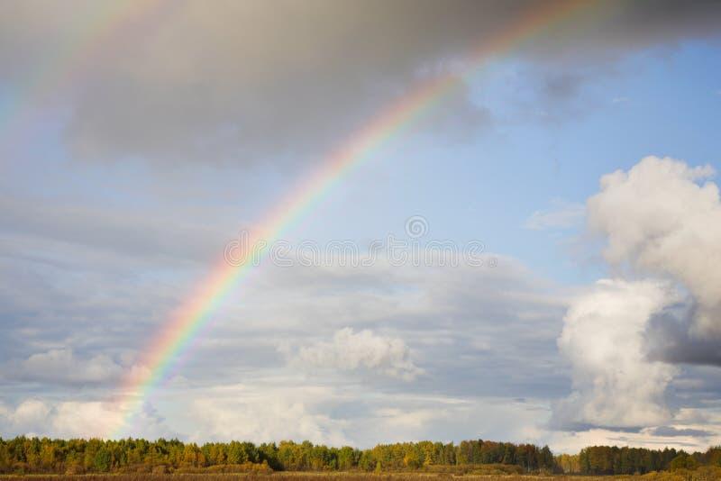 横向彩虹 库存图片