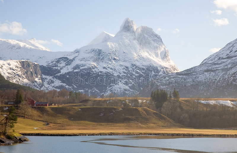 横向挪威 库存照片