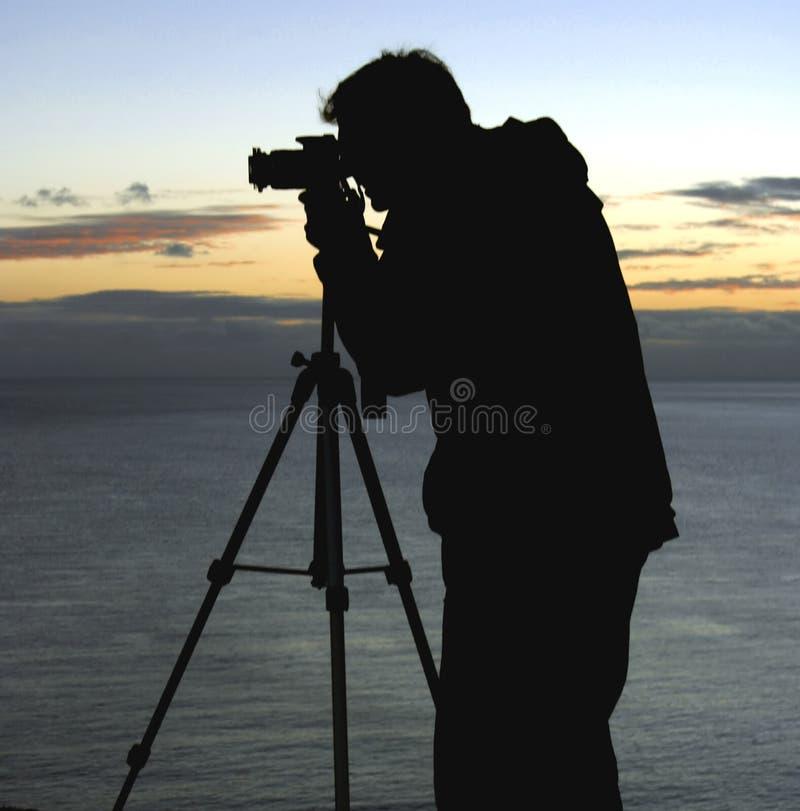 横向摄影师 图库摄影