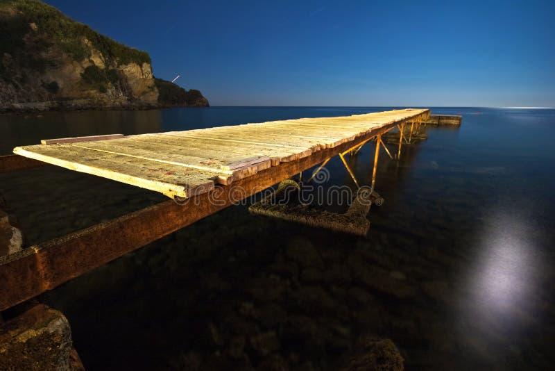 横向晚上海运 库存图片